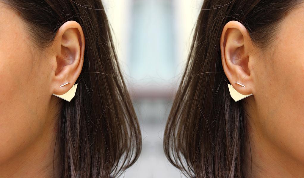 2in1 earrings in silver 2015