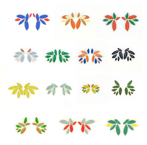 2in1 earrings in Colourful series 2015